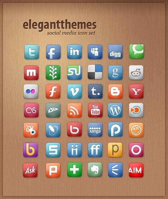 Free Social Media Icon Set | Elegant Themes Blog