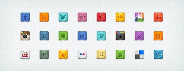 Beautiful & Free Social Media Icons