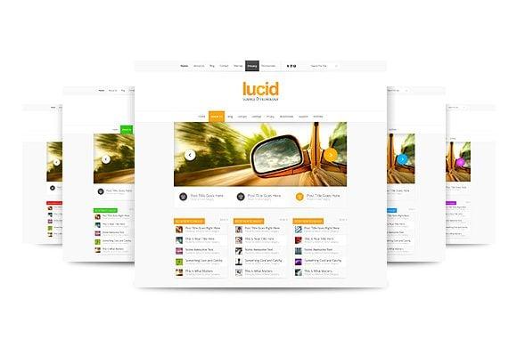 Lucid, A Sleek New Magazine Theme