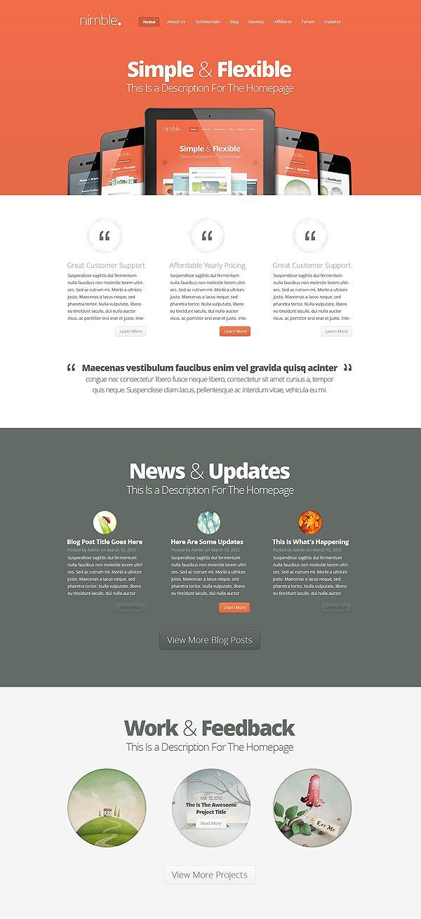 WordPress Theme: Nimble