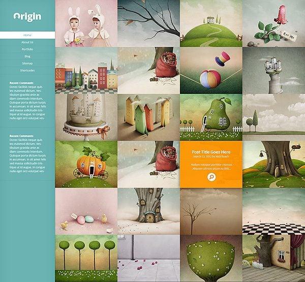 Origin, A Stunning New Grid-Based Theme