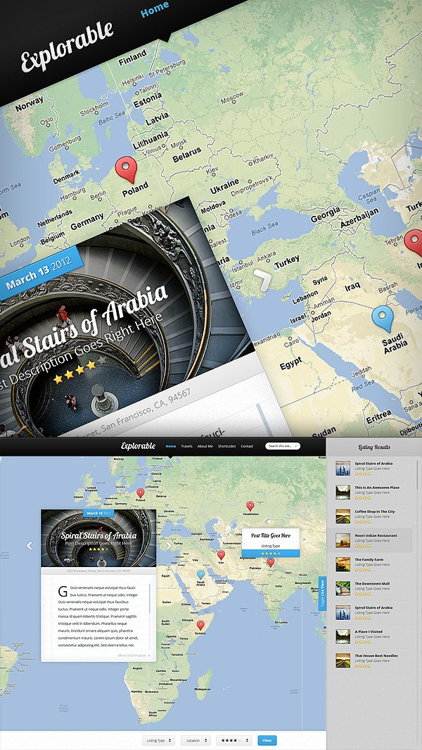 Introducing Explorable, Our Location-Based WordPress Theme