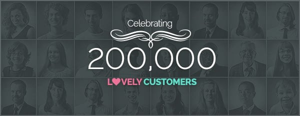 Celebrating 200,000 Lovely Customers With A Special Discount On All Upgrades
