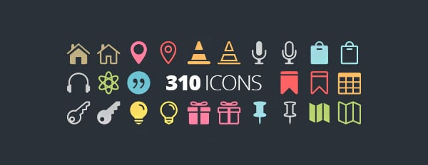 The Elegant Icon Font – 360 Of The Best Free Icons For The Modern Web