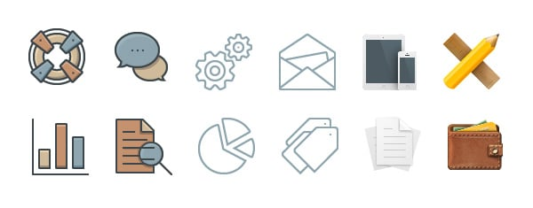 36 Free Business Icons Perfected In Three Unique Styles And Sizes