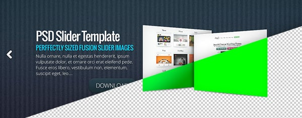 The Fusion Theme Slider Image Pack – Featuring Eight Beautiful PSD Templates