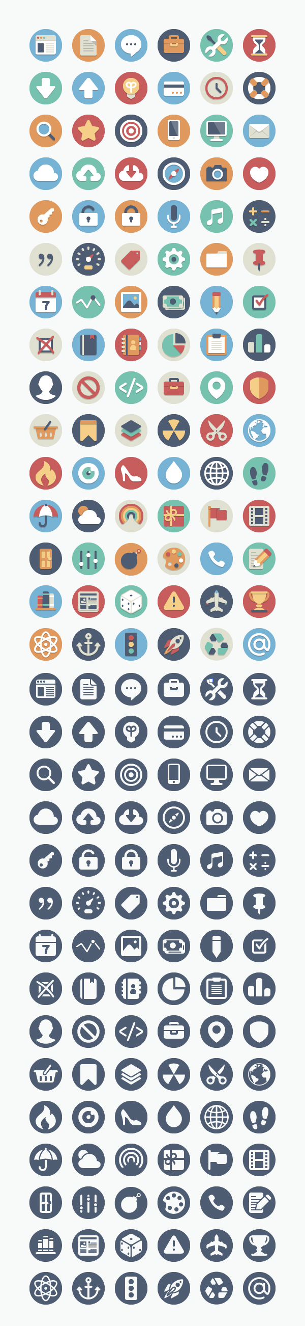 384 Free Flat Icons Download