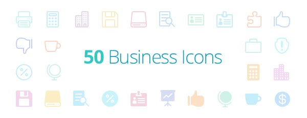 The Elegant Icon Font Just Got Better, With 50 New Business Icons