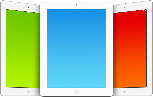 Eight Free iPad PSD Templates Built With Both White & Black ...