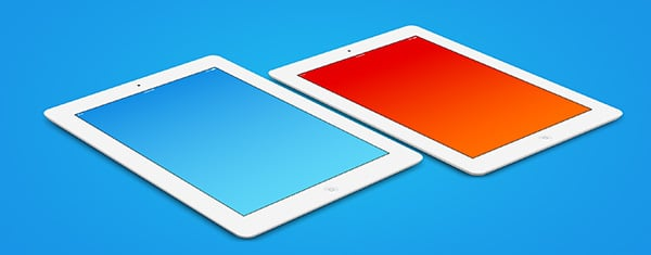eight free ipad psd templates built with both white black