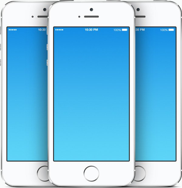 Free & Open Source IPhone 5s PSD Templates For Use In Your