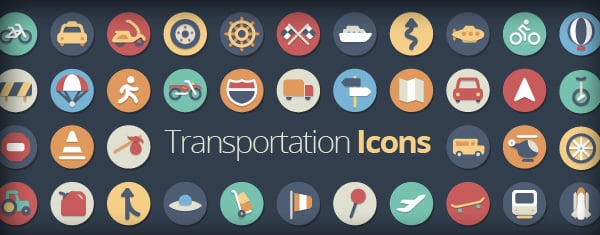 Our Flat Icons Collection Just Got Even Better With 42 New Transportation Icons