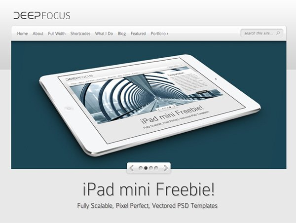 free ipad mini psd mockup templates | elegant themes blog, Powerpoint templates