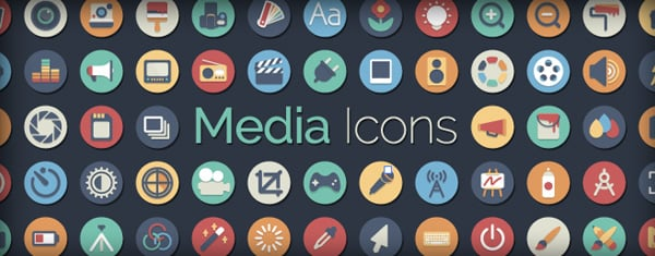 Our Flat Icon Set Gets A Media Makeover