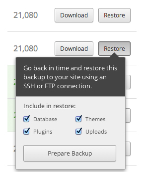 Restore a Backup