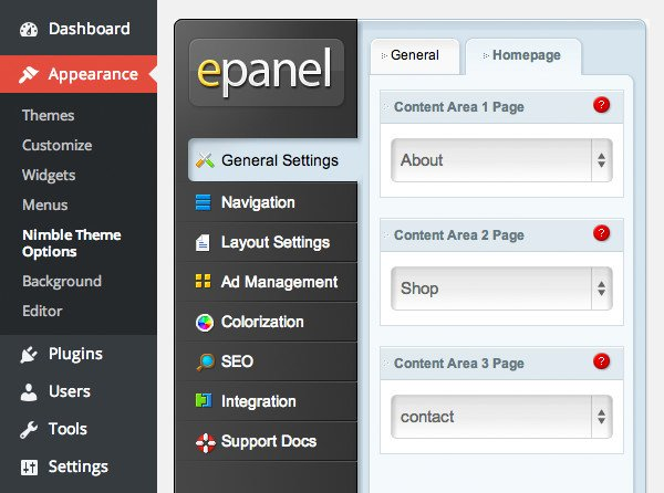 Define Blurb Content in ePanel