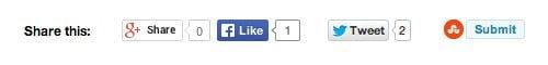 Regular Social Media Sharing Buttons