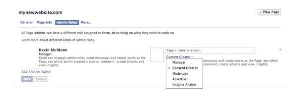 Facebook Page Admin Roles