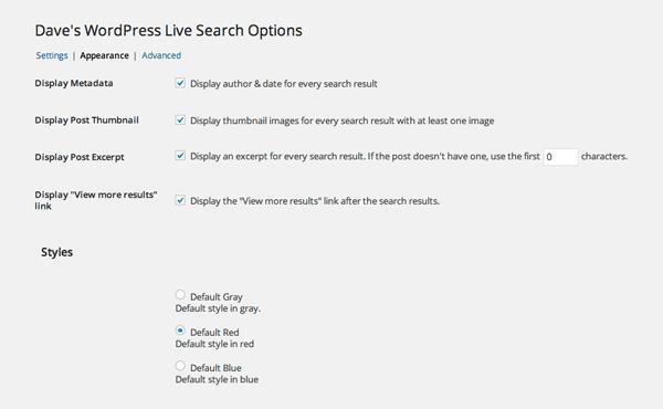 Dave's WordPress Live Search