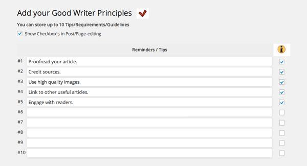 Good Writer Checkify