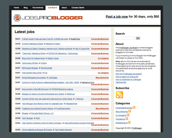 ProBlogger Job Board