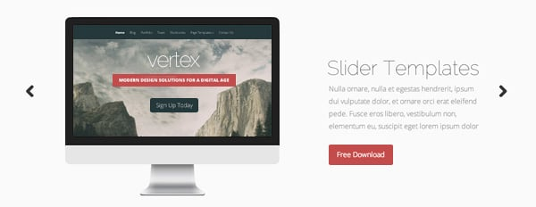 8 Image Templates For Your Vertex Theme Homepage Slider