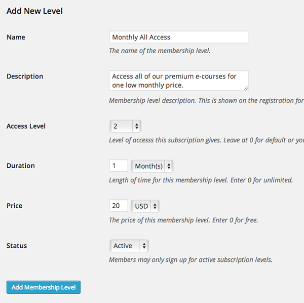 WordPress-LMS-Restrict-Pro-New-Subscription-Level