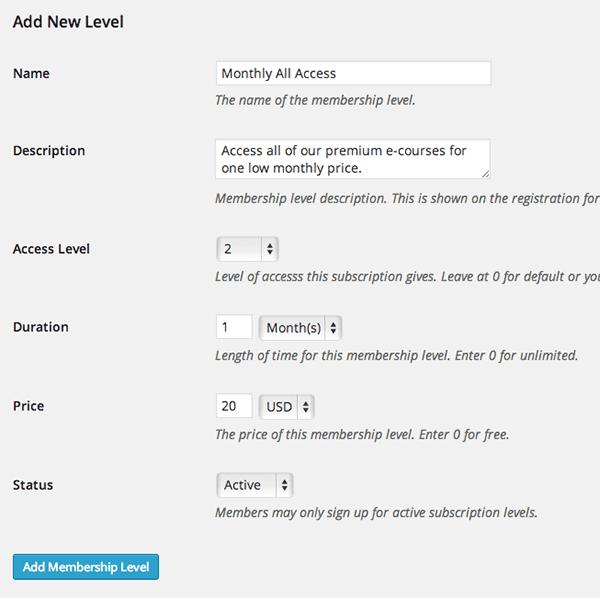 WordPress-LMS-Restrict-Pro-New-Subscription-Level