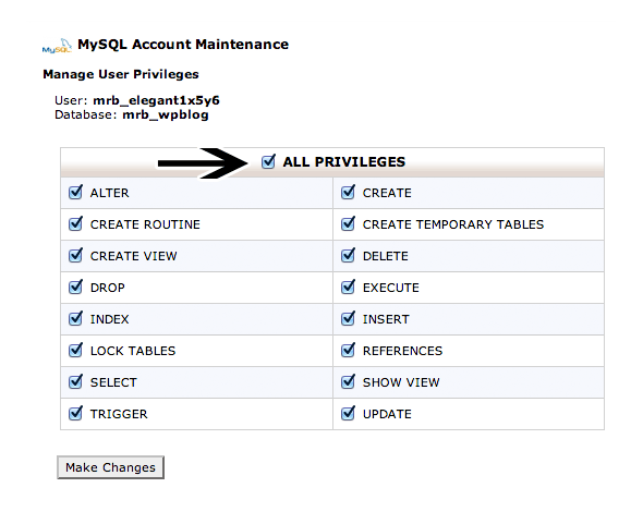 Add User to Database All Privileges