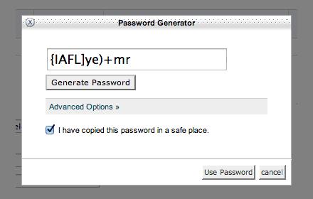 Password Generator for Database User