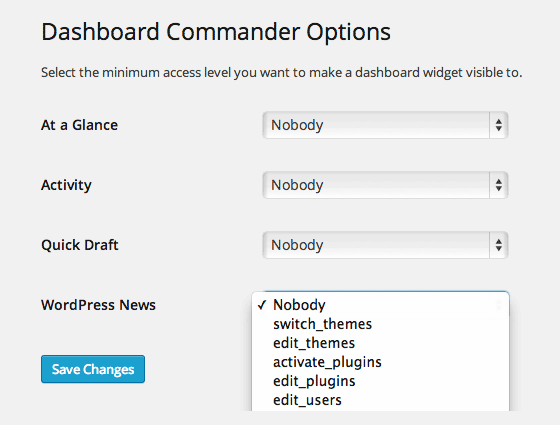 Dashboard Commander