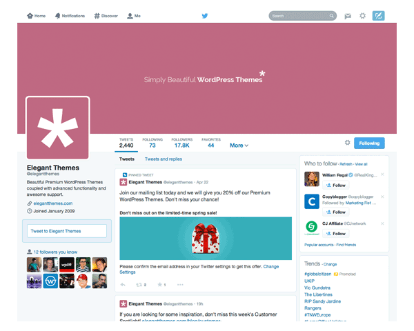 Elegant Themes on Twitter
