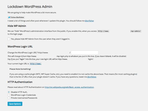 Lockdown WP Admin