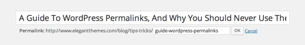 WordPress Post Slug