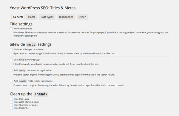 WordPress SEO Titles and Meta