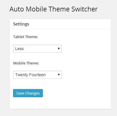 Auto Mobile Theme Switcher