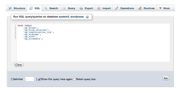 Drop Table SQL Query
