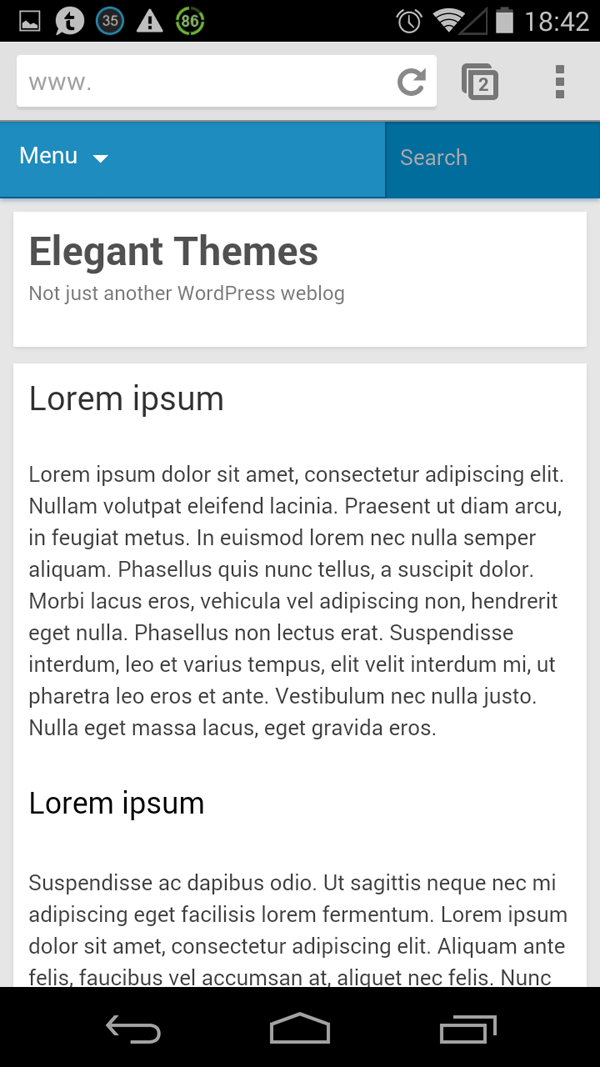Jetpack Mobile Theme Design