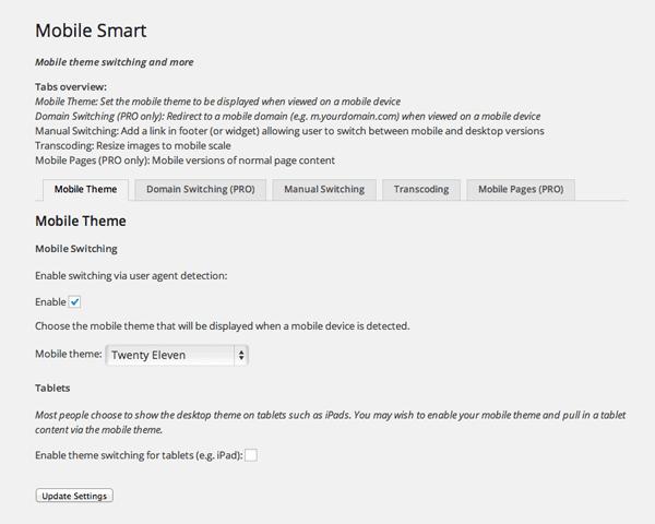 Mobile Smart Settings