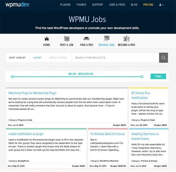 WPMUDev Job Board