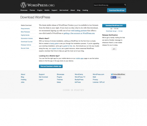 downloadWordpress