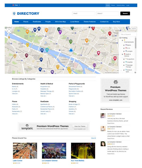 A collection of great wordpress directory themes and for Resource directory template