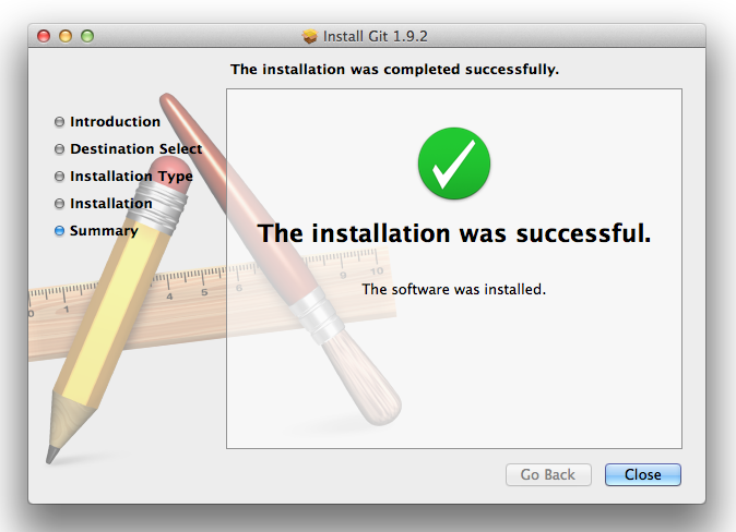 git-install-successful
