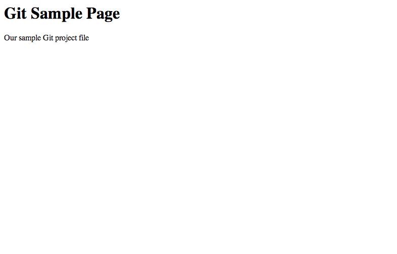 git-sample-page