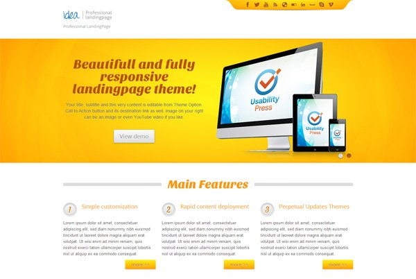 Idea Landing Page