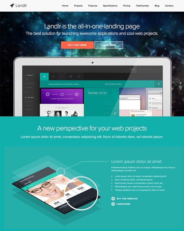 Landlr Landing Page WordPress Theme