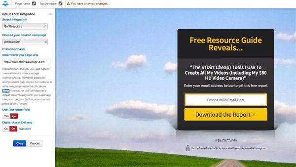 LeadPages Landing Page Generator