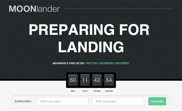 WP MOONlander Landing Page WordPress Plugin