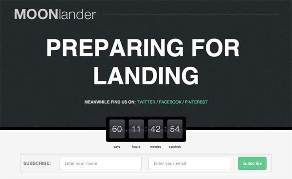WP MOONlander Landing Page WordPress Plugin