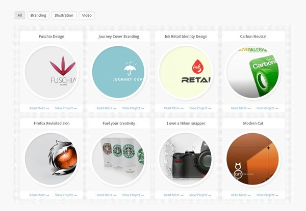 Filterable jQuery Portfolio/Gallery